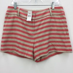 NWT LOFT The Riviera Short Coral Striped Shorts